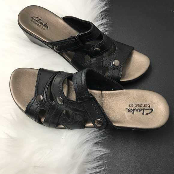 f60946482b2 Clarks Shoes - New Clark Bendable black Leather Sandals